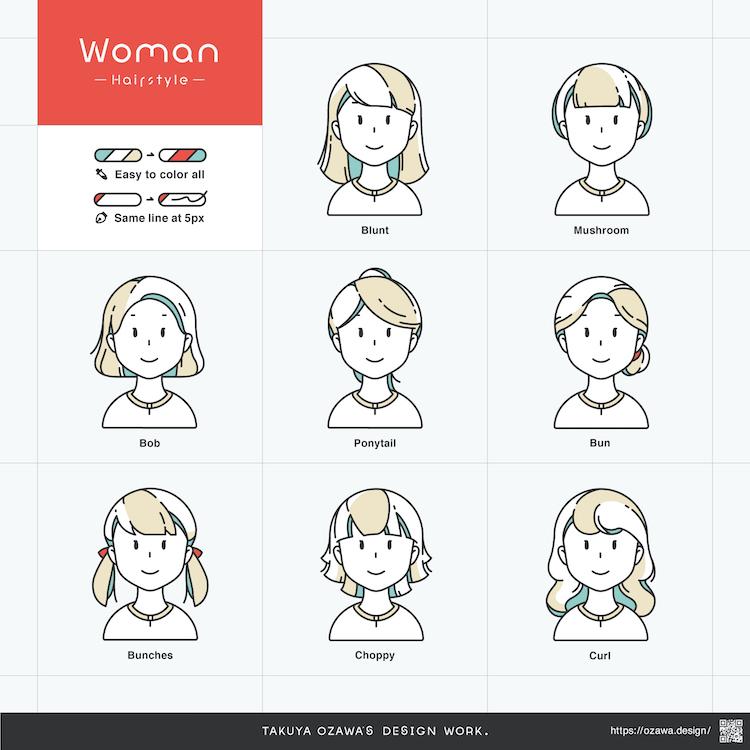 イラスト素材「woman」